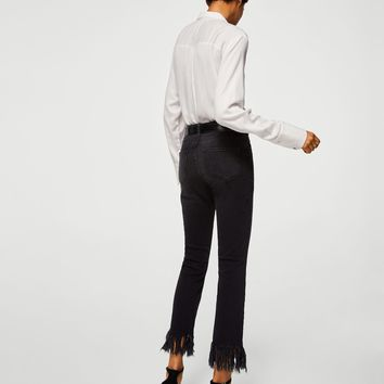 Frayed edges jeans - Women | MANGO USA