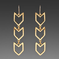 Gorjana Chevron Earrings in Gold from REVOLVEclothing.com