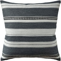 Entonto Stripe Grey Pillow by Ryan Studio