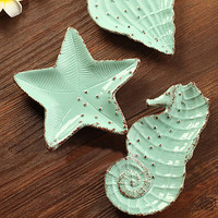 Creative Ocean Series STARFISH Dish Plate for soap, salad, small fruit, dessert