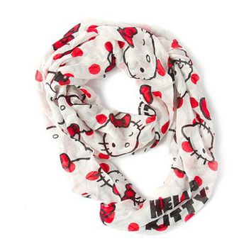 Hello Kitty Polka Dot Infinity Scarf  | Claire's