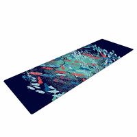 "Frederic Levy-Hadida ""Underwater Life - Blue"" Blue Fish Yoga Mat"