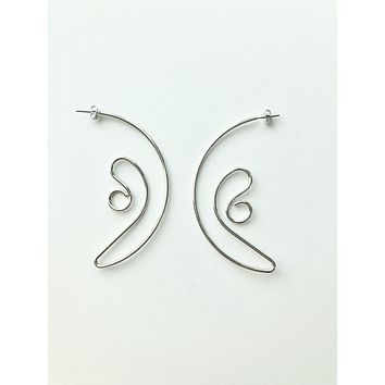 Coily Rod Earrings