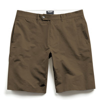 Hudson Tab-front Chino Short in Dark Olive