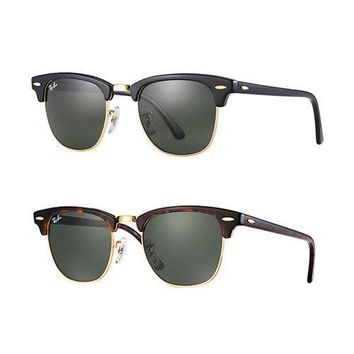 Ray-Ban RB3016 Clubmaster Classic Sunglasses-Black