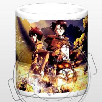 Cool Attack on Titan New  Levi Eren Jaeger Ceramic Coffee Mug White Color Or Color Changed Cup AT_90_11