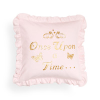 H&M - Velour Cushion Cover - Light pink