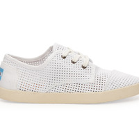 TOMS White Canvas Perforated Women's Paseos White