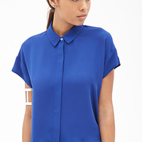 FOREVER 21 Collared Dolman Top Royal