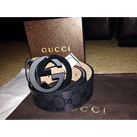 NWT Authentic Gucci Black Sparkling Belt Size-115om