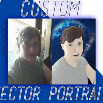 CUSTOM Vector PERSONAL PORTRAIT Painting Photo Editing Service *Personalized Gift*