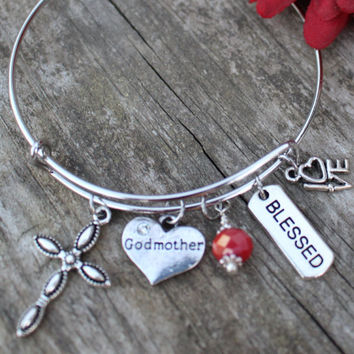 GODMOTHER GIFT, Godmother, Will you be my Godmother, Fairy Godmother, Baptism Gift, Godmother Bracelet, Gif for Godmother, Godmother Gifts