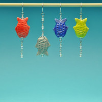 Peruvian Fish Earrings with Bubbles