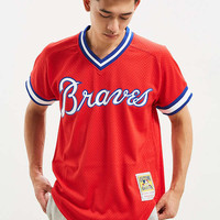 Mitchell & Ness Atlanta Braves Batting Jersey | Urban Outfitters