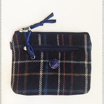 Ella Tweed Purse | Navy