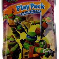 Lot of 10 Teenage Mutant Ninja Turtles Play Pack Grab & Go Coloring Book Crayons