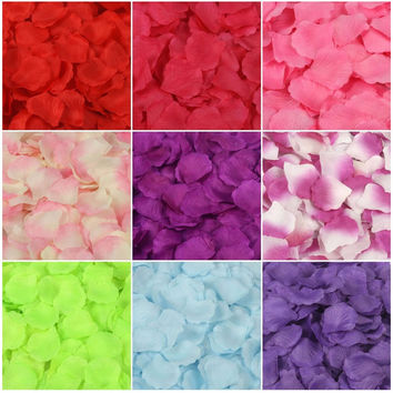 Rose Petals 5000 Artificial Silk Wedding Party Decorations Aisle Runners Girl Tossing Table wedding Flower Petal