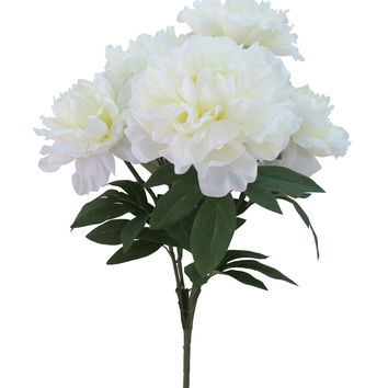 Fresh Picked Spring 19'' Peony Bush-Cream | JOANN