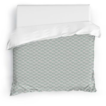 FRILL GREEN Duvet Cover By Tiffany Wong