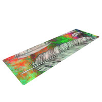 """Suzanne Carter """"Feather"""" Rainbow Space Yoga Mat"""
