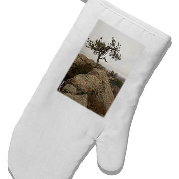 Stone Tree Colorado White Printed Fabric Oven Mitt by TooLoud