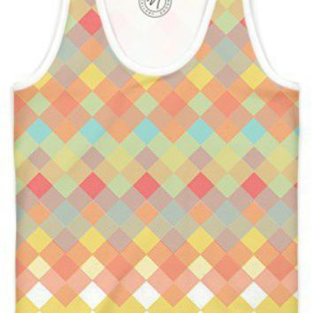 Tri Colour Geometric Fade Women's Trinity Tank by Tanya Legere | Nuvango