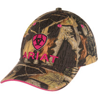 Women's Ariat Pink and Camo Baseball Cap