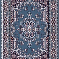 Home Dynamix Premium 7069-310 5-Feet 2-Inch by 7-Feet 4-Inch Area Rug, Country Blue