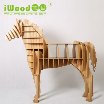 FREE SHIPPING European Arts Crafts Home Decoration Creative Home Decoration wooden horse simulation wood crafts factory outlets