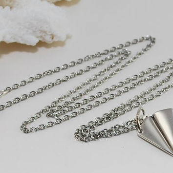 Paper Airplane Necklace Silver One Direction Harry Styles