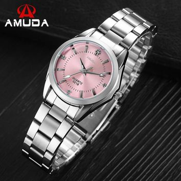 AMUDA Brand Female Dress Rhinestone Watches Ladies Fashion Casual Quartz-watch Wrist Watches Relogio Feminino