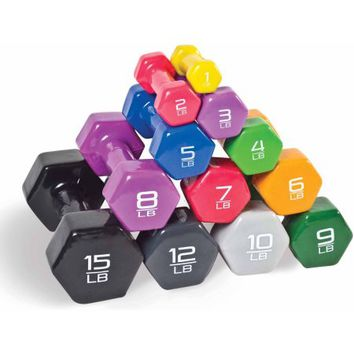 CAP Barbell Vinyl-Coated Dumbbell, Pair - Walmart.com