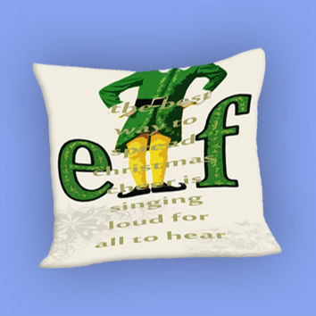 Christmas elf for Pillow Case, Pillow Cover, Custom Pillow Case **