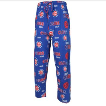 Chicago Cubs Mens Sweep Printed Pajama Pants By Concepts Sport