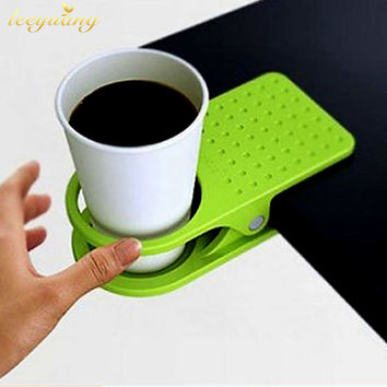 1 PC Table Desk Cup Holder Clip Drink Clip Coffee Holder