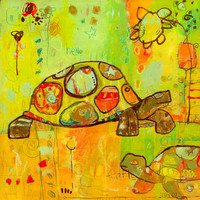 Hello Turtles | Canvas Wall Art