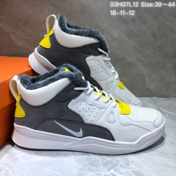 KUYOU N789 Nike Free Inneva Woven Mid add wool in British fashion street leisure sports sandals White Grey Yellow