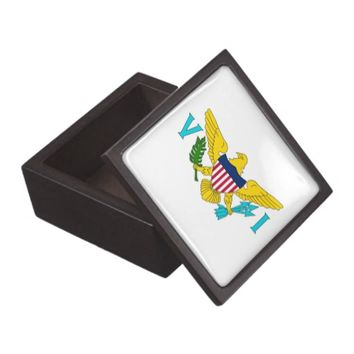 Virgin Islands Flag Premium Gift Box