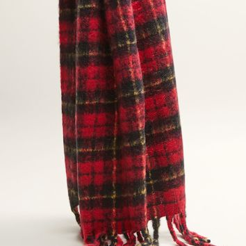 Plaid scarf - Women | MANGO United Kingdom