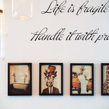 Life is fragile. Handle it with prayer Style 07 Vinyl Decal Sticker Removable
