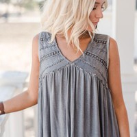 Summer Wind Boho Etched Top