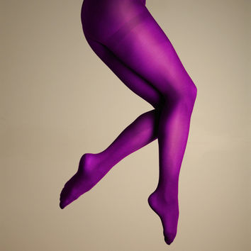 Shades of Purple Microfiber Tights
