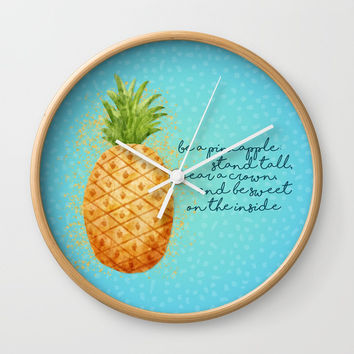 Be a Pineapple Wall Clock by Noonday Design