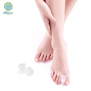 KONGDY Brand 4Pieces=2Pairs Feet Care Bunion Toe Separator Relief Hallux Valgus Pain Silicone Gel Thumb Adjuster Protector