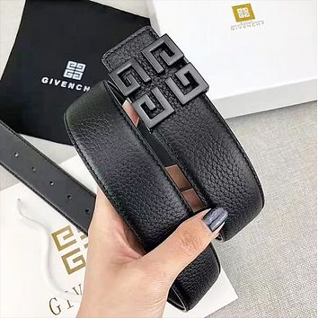 Givenchy Fashion New Pattern Buckle Leather Women Men Leisure Belt Width 3.8CM With Box