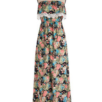 ModCloth Boho Long Strapless Maxi Fest What You Need Dress