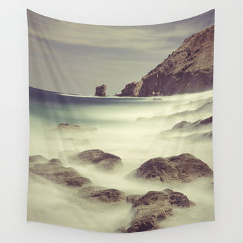 Water. Volcanic rocks. Wall Tapestry by Guido Montañés