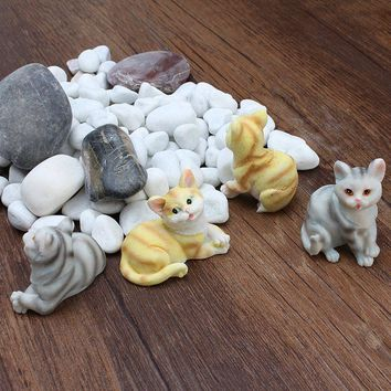 4 designs cats garden miniatures terrariums resin figurines