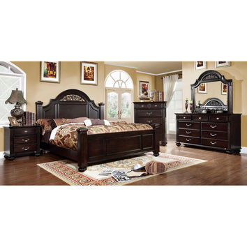Furniture of America Grande 4-Piece Dark Walnut Bedroom Set | Overstock.com Shopping - The Best Deals on Bedroom Sets
