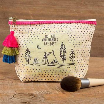 Not All Who Wander Canvas Pouch
